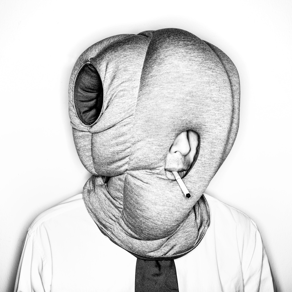 self-portrait, selfie, ostrich pillow